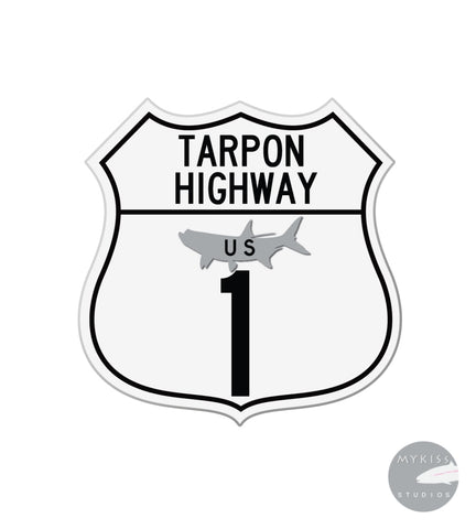 Tarpon Highway Sticker 3X 3