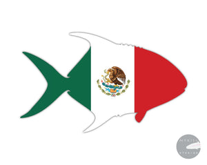 Mexico Permit Die Cut Sticker 5 X 3.25