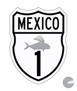 Rooster Fish Highway Sticker 3