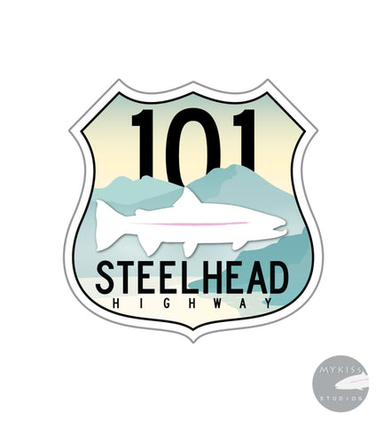 Steelhead Highway Sticker Color Edition 3 X
