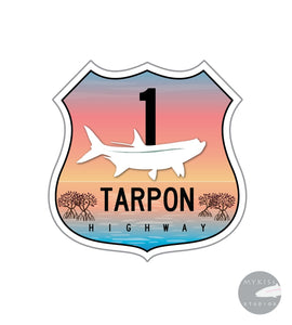 Tarpon Highway Sticker Color Edition 3