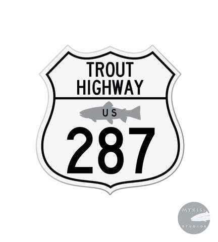 "Trout Highway US 287 3""X 3"""