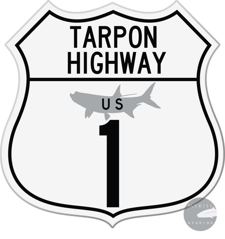 Tarpon Highway Sticker 5X 5