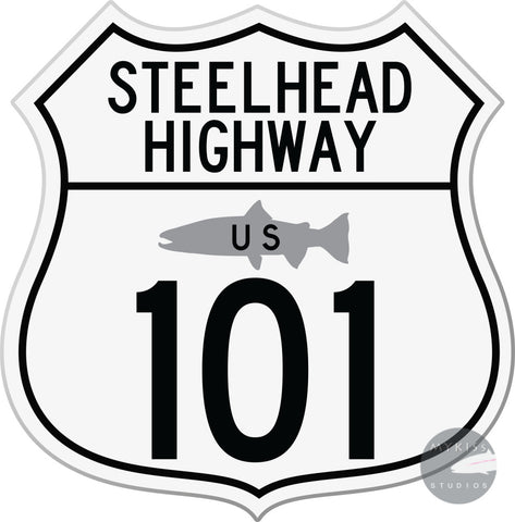 Steelhead Highway Sticker 5X5