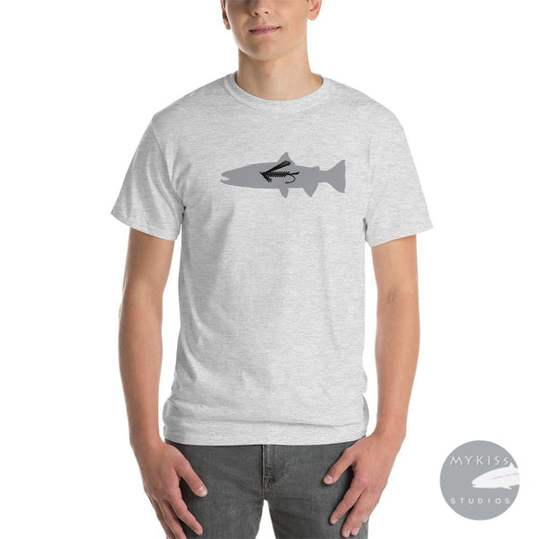 Steelhead Fly Fish T-Shirt Ash / S