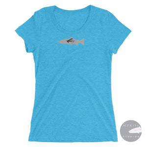 Fly-Fish Womens Short Sleeve T-Shirt Aqua Triblend / S Ladies Shirt