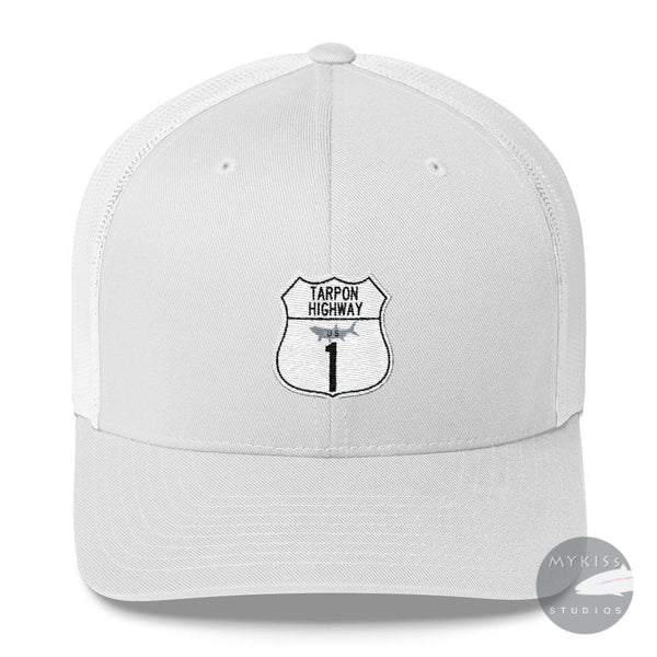 Tarpon Highway Trucker Cap Navy/ White Hat
