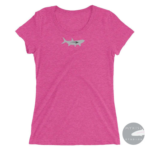 Fly-Fish Tarpon Womans T-Shirt Berry Triblend / S Ladies Shirt