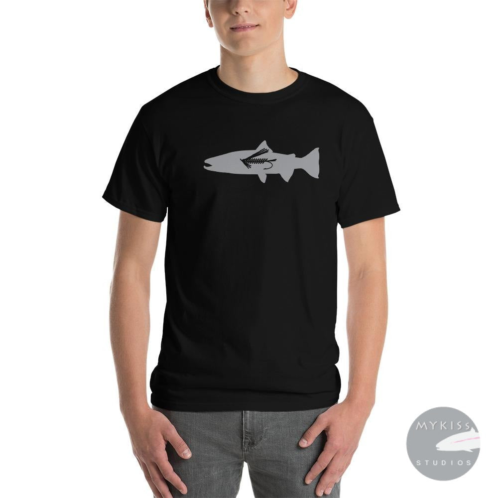 Steelhead Fly Fish T-Shirt Black / S