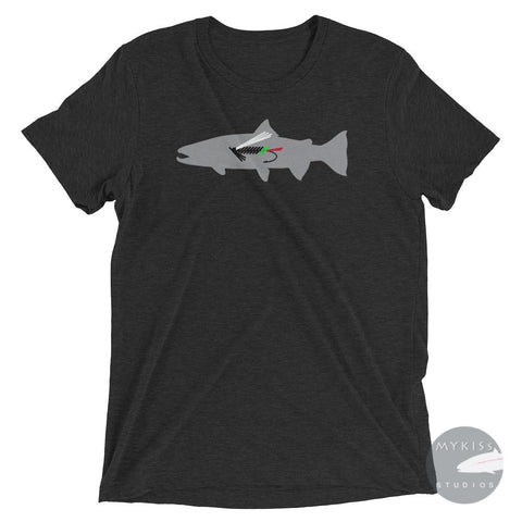 Fly Fish Steelhead Greenbutt Edition Charcoal-Black Triblend / Xs Shirt