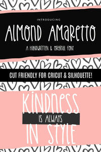 Almond Amaretto Handwritten Font