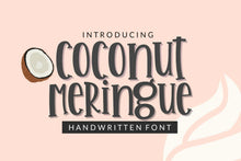 Coconut Meringue Handwritten Font