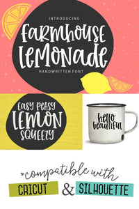 Farmhouse Lemonade Handwritten Font