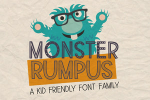 Monster Rumpus Font Family