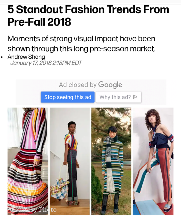 Stripes are In! Fall 2018