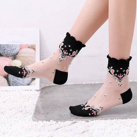 Soft Flowers Socks