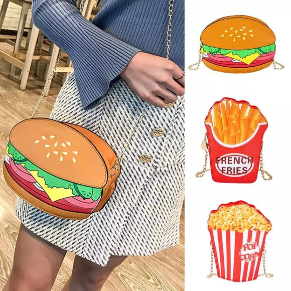 Burger Fries and PopCorn Bag