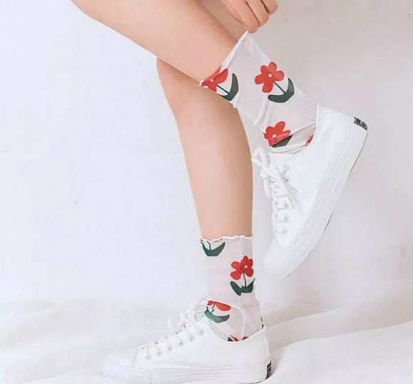Garden flower Socks