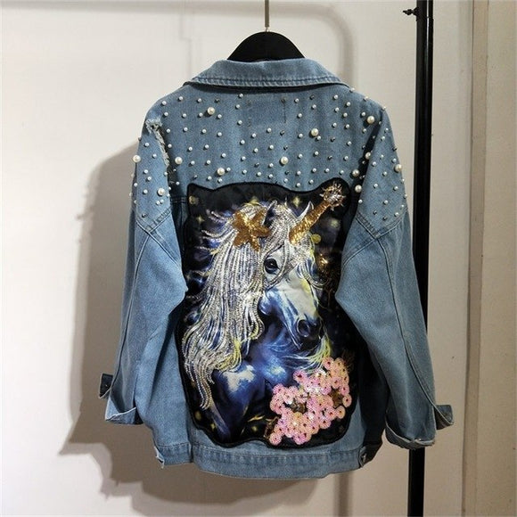 Unicorn Denim Fashion Jacket