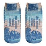 3D Dollar Banknote Socks