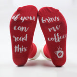 Womans letter print Socks