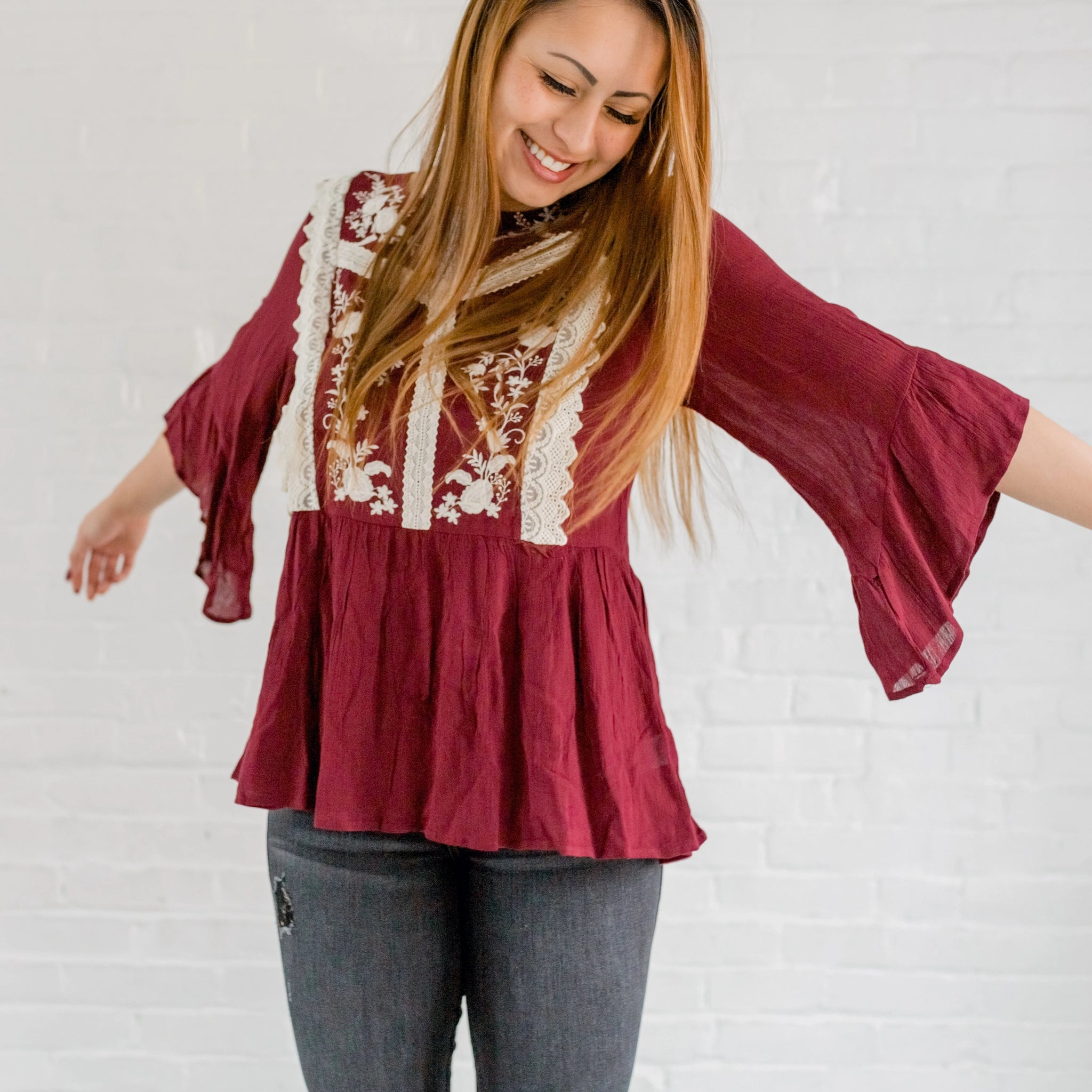 Belle Embroidered Top