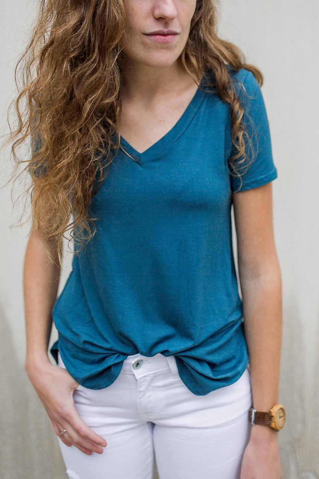 T-Shirt Tunic in Blue Spruce