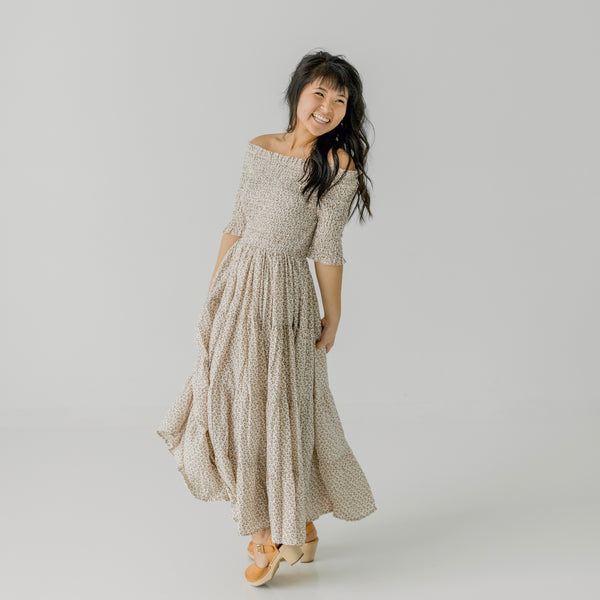Adeline Dress in Natural