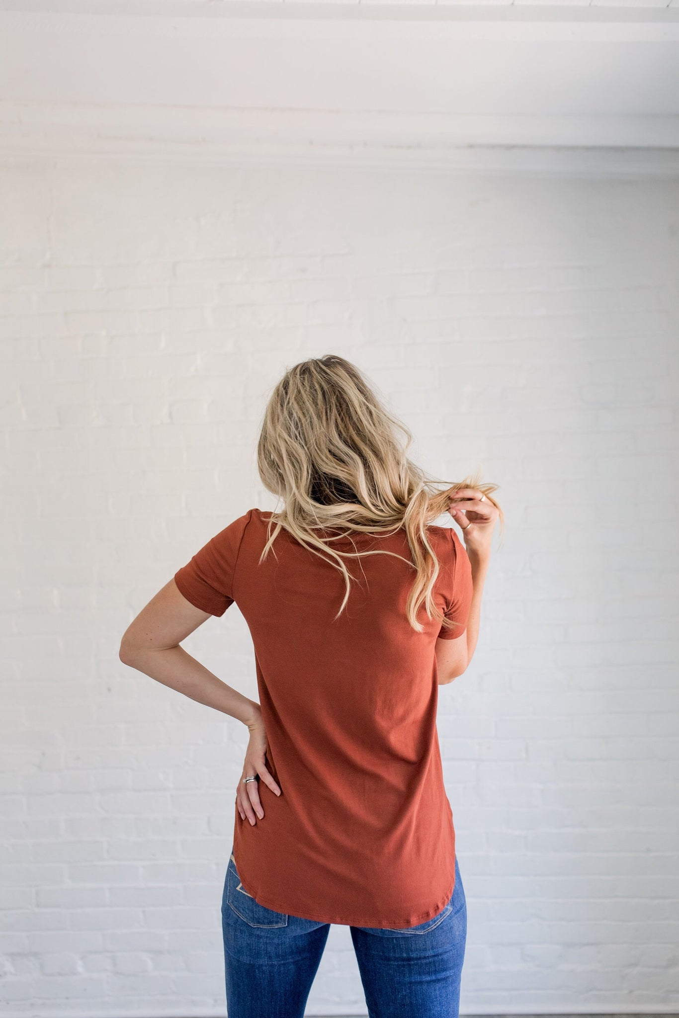 T-Shirt Tunic in Rust