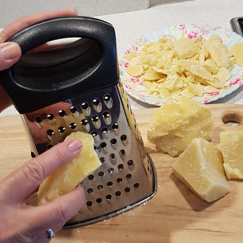 grating beeswax for food wraps