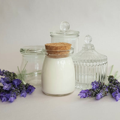 Milk Bottle Candle Glass - Short 80gm