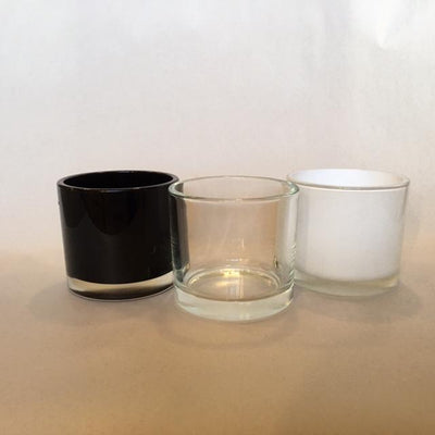 Large Short Candle Glass - Black