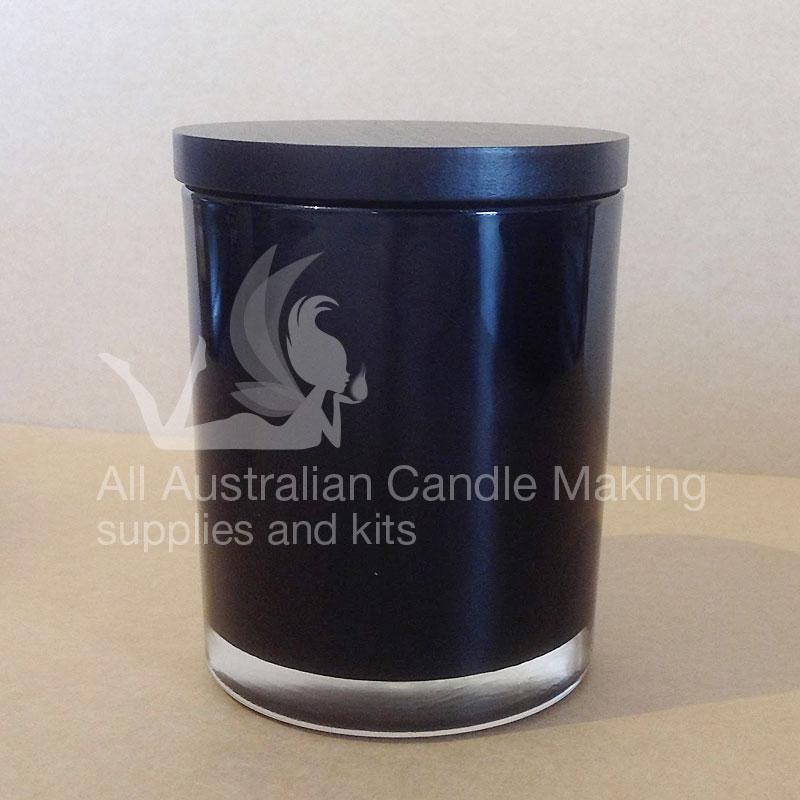 SPECIAL 12 Small-Medium Candle Glass - Black/Black Lid