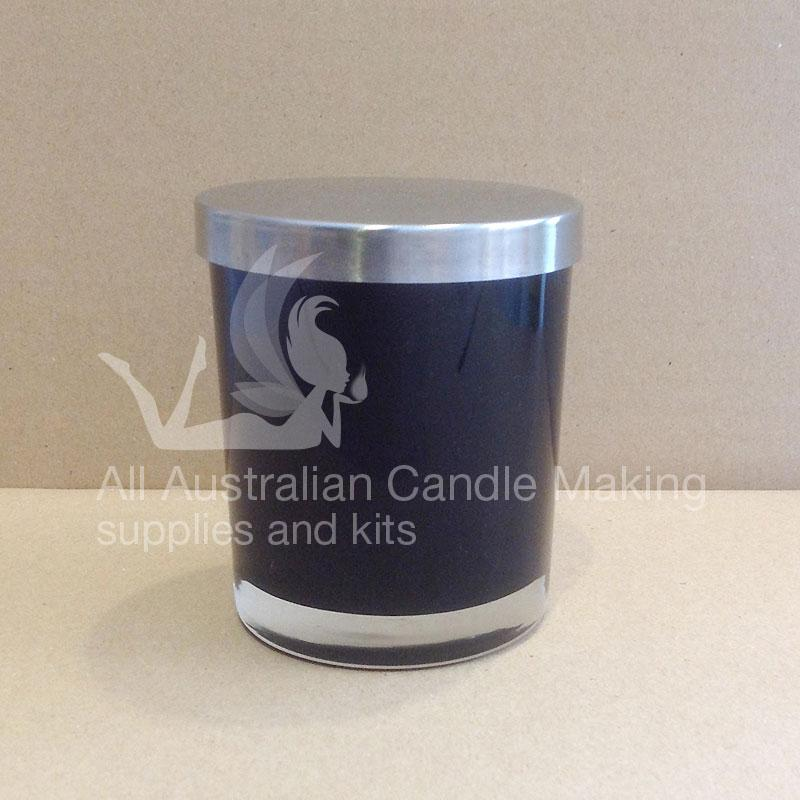SPECIAL 12 Small-Medium Candle Glass - Black/Silver Lid