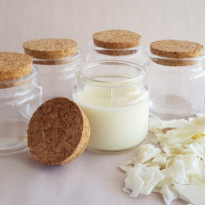 Stubby Glass with Cork lid - Soy Wax Candle Making Kit