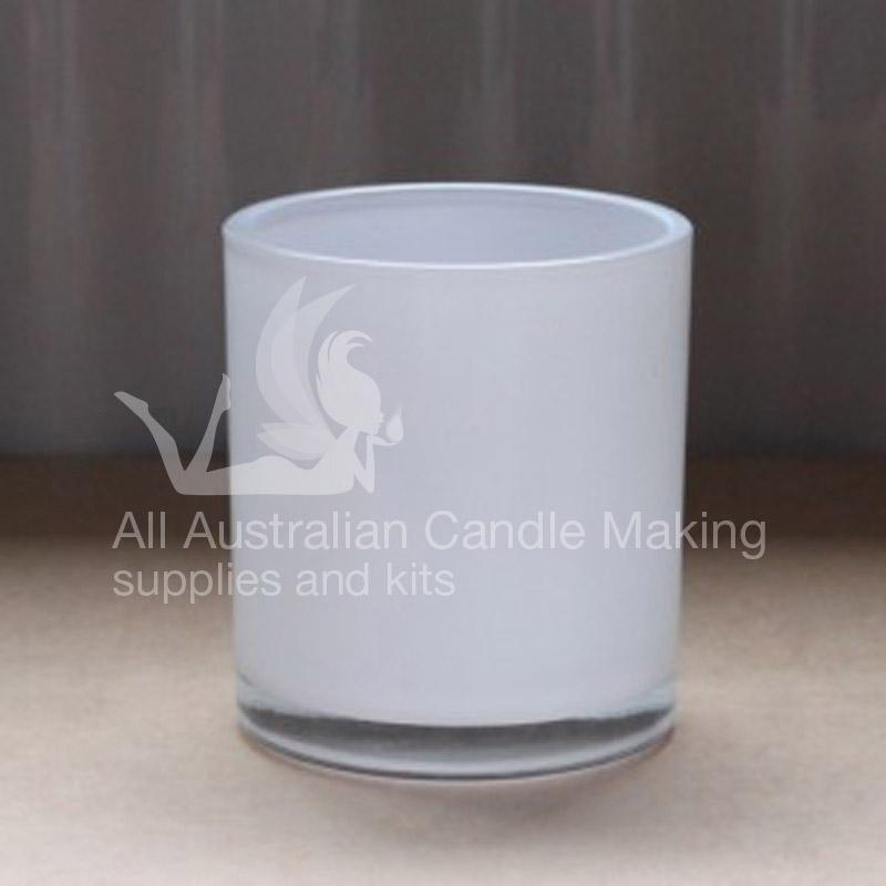 Large Candle Glass - White