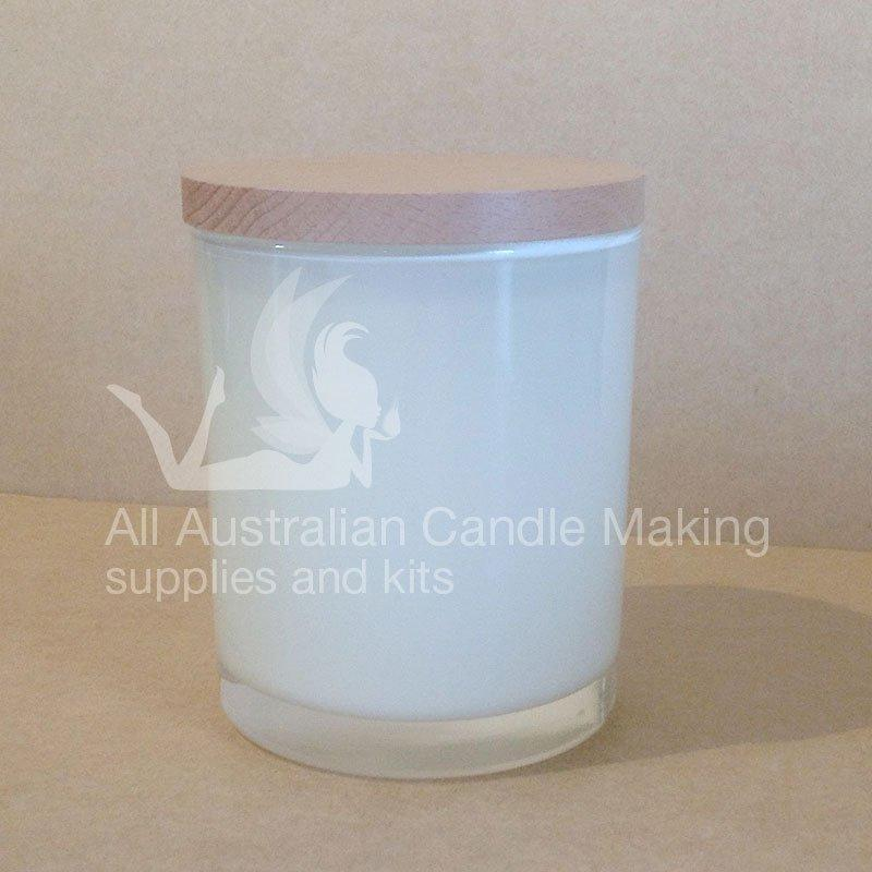 SPECIAL 12 Small-Medium Candle Glass - White/Beech Lid