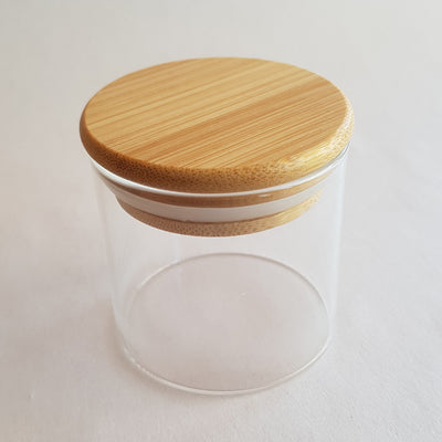 Country Candle Glass with Bamboo Lid (Short)