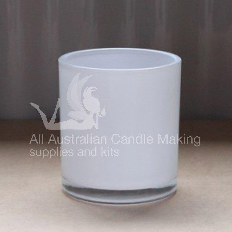 Medium Candle Glass - White