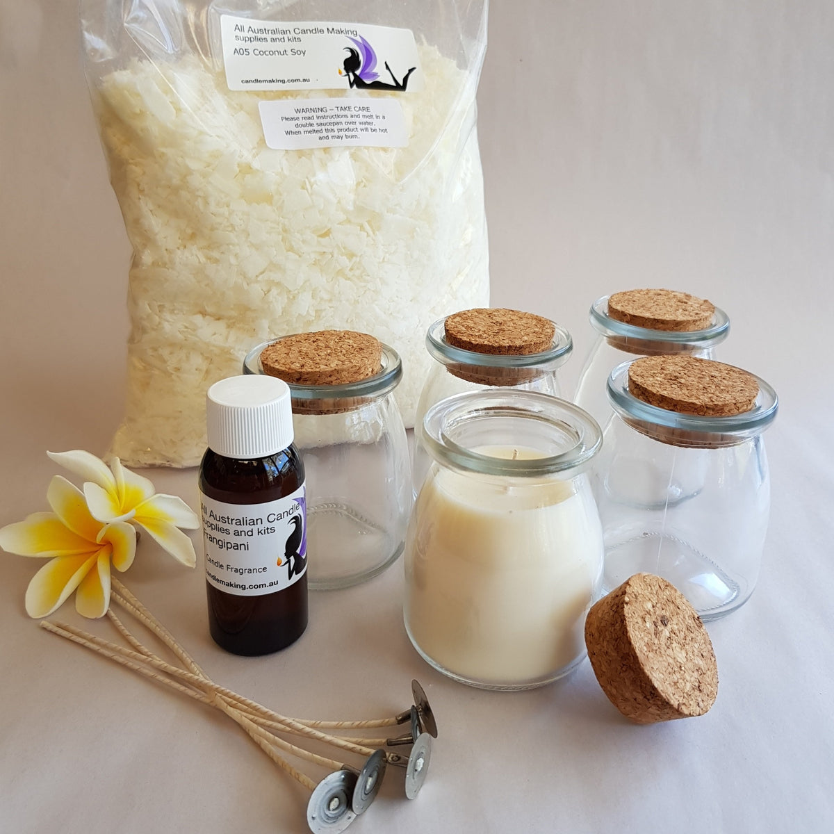 Milk Bottles - a very special Soy Candle Making Kit
