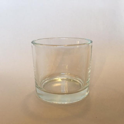 Large Short Candle Glass - Clear