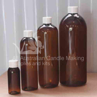 Bottle - Amber PET 55ml with lid