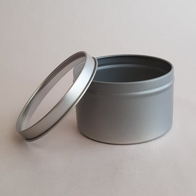 Candle Tin 8oz - Clear window lid