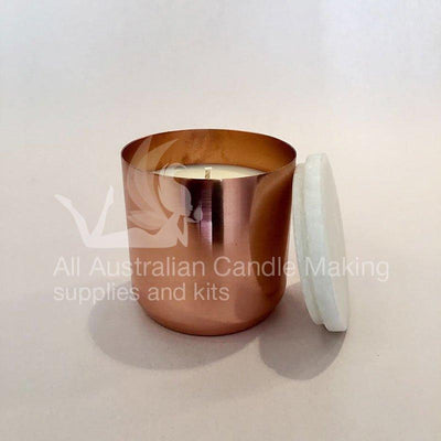 Copper-plate Candle Tumbler with Marble lid 8CM