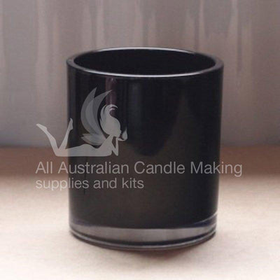 Large Candle Glass - Black