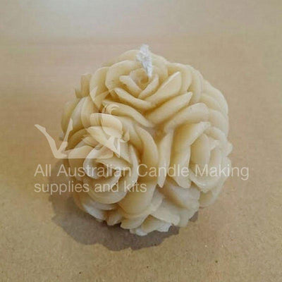 Rose Ball 6.5cm Silicon Candle Mould