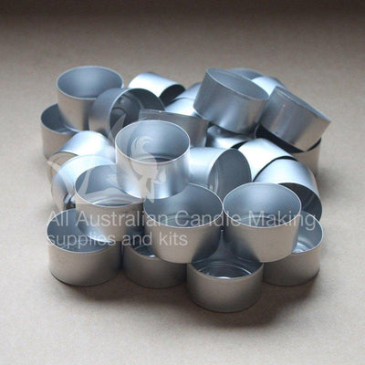Tea Light Cups - Silver 25mm tall