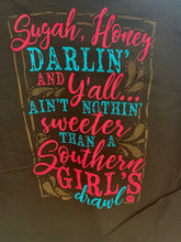Southern Girls Girly Girl long sleeve Chocolate