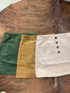 Corduroy mini skirts