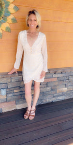 Ivory and Gold Chiffon dress